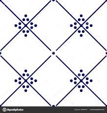 Blue And White Decorative Tiles Tile Indigo Blue White Decorative Floor Tiles Vector Pattern 60