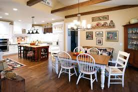 light kitchen table. Country Dining Room Lighting Kitchen Table Farmhouse Rustic With Exposed Beams Style Light