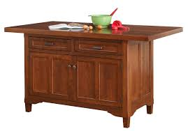 Kitchen Cart With Doors Solid Cherry Wood Kitchen Island