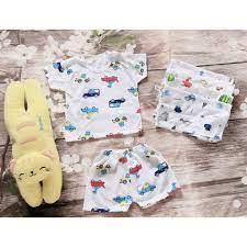Bộ đồ họa tiết- 10 bộ đồ coton đẹp giành cho bé trai-sơ sinh bé gái-bộ quần  áo cho bé sơ sinh từ 0-16kg giá cạnh tranh