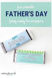 Funny Free Printable Fathers Day Candy Bar Wrappers