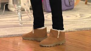 skechers on the go boots. skechers gowalk suede ankle boots w/ faux fur lining with shawn killinger - youtube on the go h