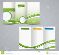Green Brochure Template Three Fold Brochure Template Corporate Flyer Or Cover Design In