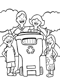 Recycling Coloring Book For Earth Day