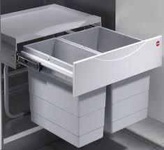 Hailo, Einbau Mülleimer, Abfalleimer, Küche, Raumspar Tandem S, 1 X 12