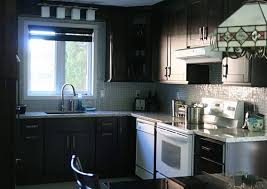 Kitchens With White Appliances And Dark Cabinets Of Beautiful Design