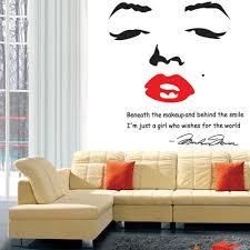 Marilyn Monroe Bedroom Accessories Portrait Of Marilyn Monroe Diy Wall Sticke Wallpaper Stickers Art