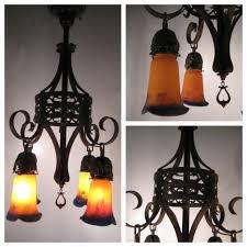 a7879 french art nouveau chandelier