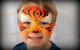 easy tiger painting children under 3 years old using kryvaline s bright tiger you