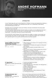 Technologie Analyst Resume Proben Visualcv Lebenslauf Proben Datenbank