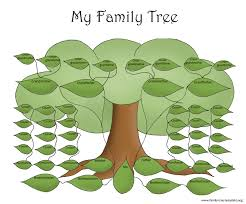 big green family tree to fill out