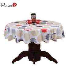 past style wave table cloth anti hot pvc plastic table cloth for round table home hotel