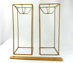 Lamp Shade Wire Frames Pair Tall Square For Table Lamps Custom Made