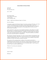 Unsolicited Cover Letter Example Of Application Alternative See