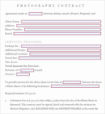 Wedding Photography Contract Form Simple Wedding Photography Contract Template Unique Graphy Contract