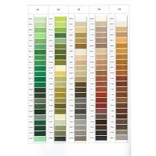 Isacord Thread Chart With Color Names Isacord Color Chart