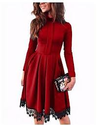 Colors Dress Size Chart Generic Women Fashionable Long Sleeve Stand Collar Solid