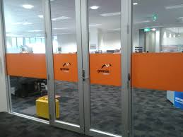 promote images logos and ideas using full colour prints or an etched glass effect on any window or glass panel utilise frosting strips for safety on large