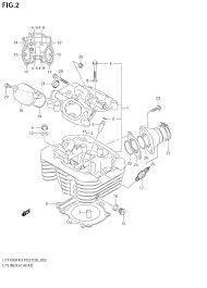 2006 suzuki eiger 4wd lt f400f cylinder head parts best oem suzuki eiger 400 service manual at Suzuki Eiger 400 Battery Wiring Diagram