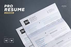Resume Template Indesign 50 Best Cv Resume Templates Of 2018 Design