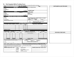 Blank Bill Of Lading Forms 29 Bill Of Lading Templates Free Word Pdf Excel Format