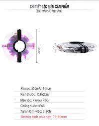 Đèn Led Gắn Bánh Xe Đạp 7 Màu (Trục Giữa phi 19-36mm) Có Sạc Điện USB Chống  Nước Trang Trí Cho Xe Đạp Người Lớn Mai Lee - Đèn xe đạp