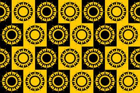 Sun Pattern Adorable Clipart Abstract Sun Pattern