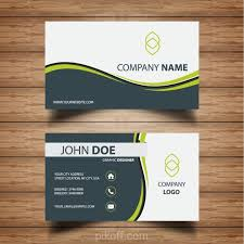 Ai Professional Business Card With Green Waves Vector Free