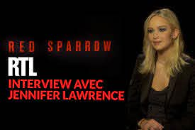 "Jennifer Lawrence evokes on RTL its transformation to the ""Red Sparrow"""