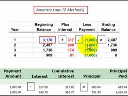 Loan Amertization Loan Amortization For Principal And Interest Described Thru
