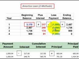 Loan Amortization For Principal And Interest Described Thru Amortization Schedule