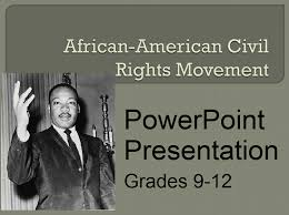 African American Civil Rights Movement Powerpoint Student Handouts