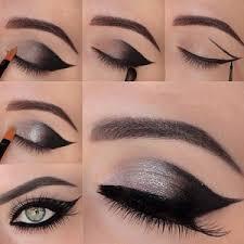 pea cat style eye makeup