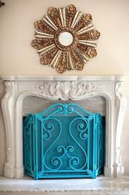 fireplace screen design i am loving the idea of painting this fireplace screen in turquoise