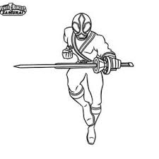 Small Picture Amazing Red Ranger in Power Rangers Super Samurai Coloring Page