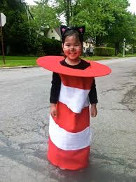 a literal cat in the hat costume