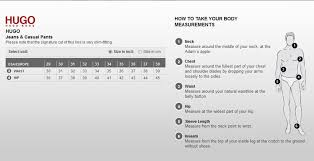 jean size converter hugo boss size chart