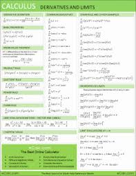 calculus review sheet math formula reference sheet algebra geometry calculus trigonometry
