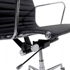 eames ribbed chair tan office. Eames Inspired Office Chair. Ea119 Style Chair High Back Ribbed Black Leather Tan