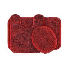 bright red rug round
