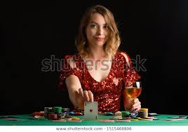 Girl Plays Casino Game Risk Fortuna Stock Photo (Edit Now) 1515468806