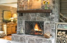 fireplace with custom aspen screen by glenn gilmore