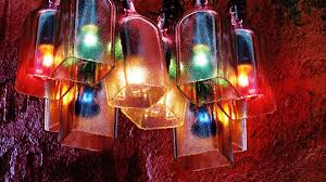 Making Wine Bottle Lights Recycled Bottles Made Into A Beautiful Chandelier Easy Diy
