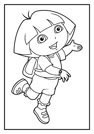 Dora And Diego Coloring Pages Printable San Padres Printables Carmen