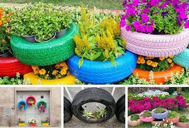 29 flower tire planter ideas for your