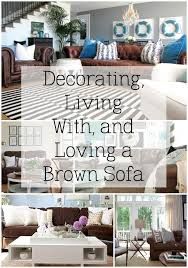 decorating with a brown sofa