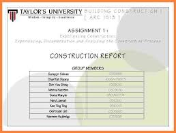 Construction Project Report Format Filename – My College Scout