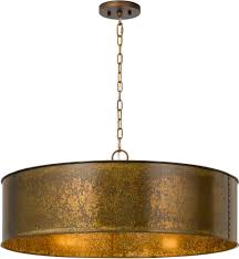 fashionable metal drum chandeliers intended for cal fx 3637 5 rochefort distress gold drum pendant light