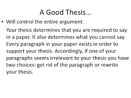 thesis statements <br > 4 a good thesis