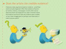Does The Article Cite Credible Evidence Infographics By Eszter